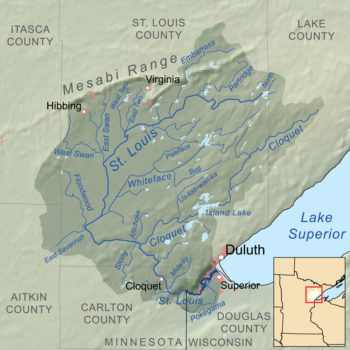 Map of the St Louis River