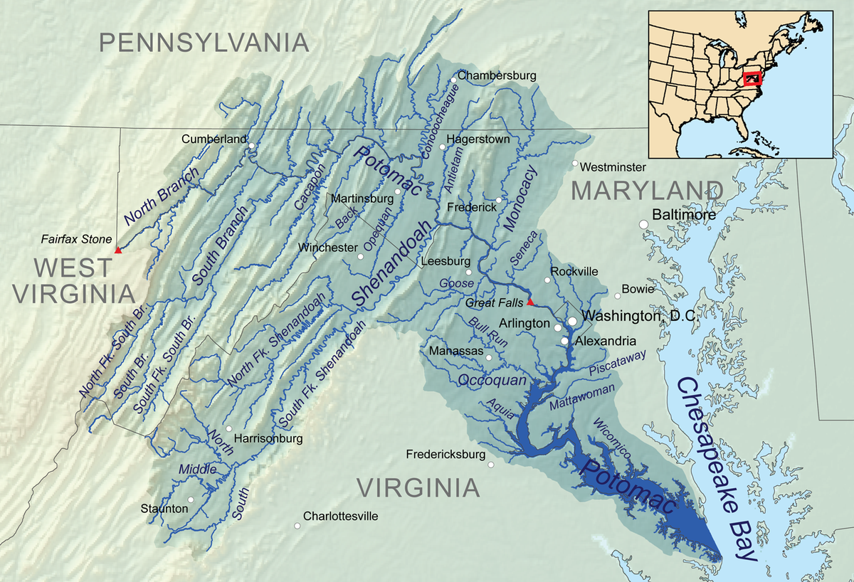 Potomac River On Us Map Potomac River | American Rivers