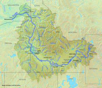 Map of the Snake River watershed | Wikimedia