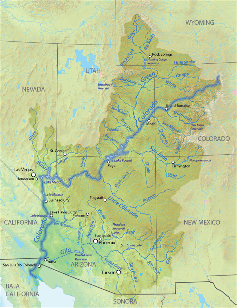 Map of the Colorado River basin | Wikimedia