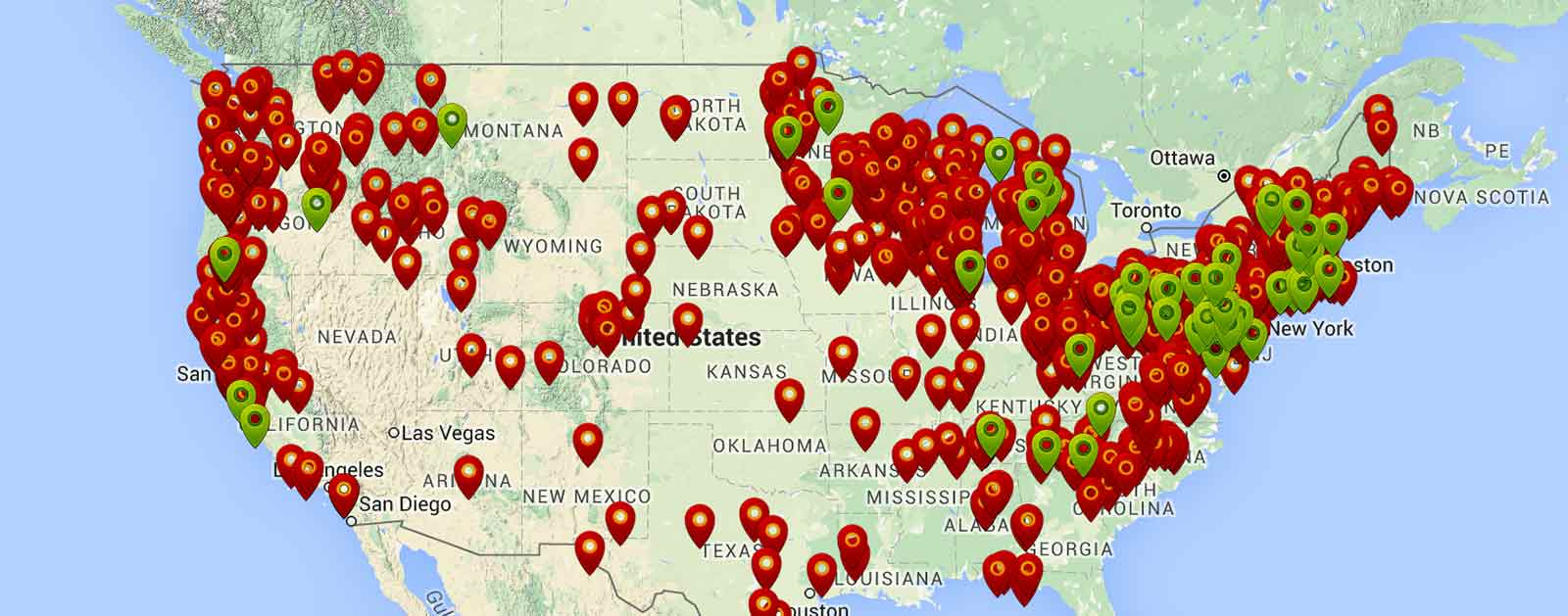 Map of American Dams Removed Since 1912