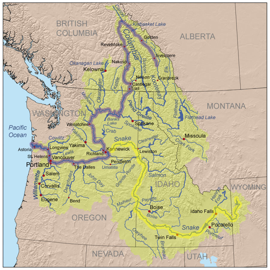 Where Is The Columbia River On A Us Map Columbia River | American Rivers