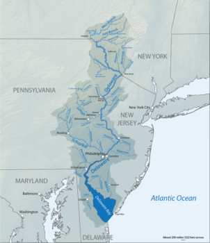 Delaware River watershed map | Wikimedia Commons