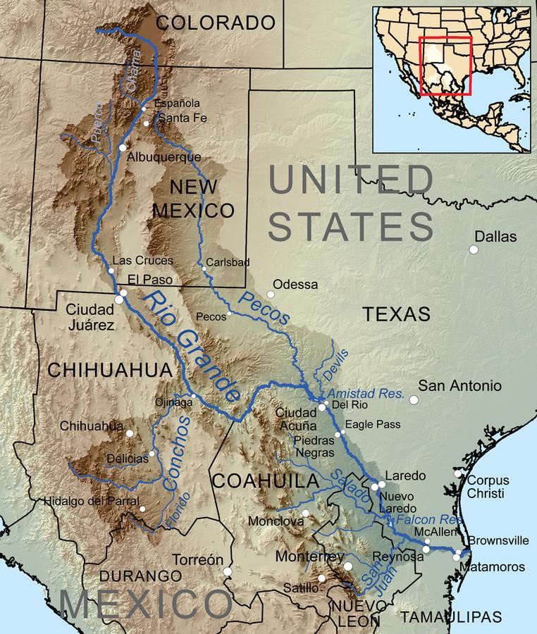 Rio Grande River Us Map Rio Grande | American Rivers