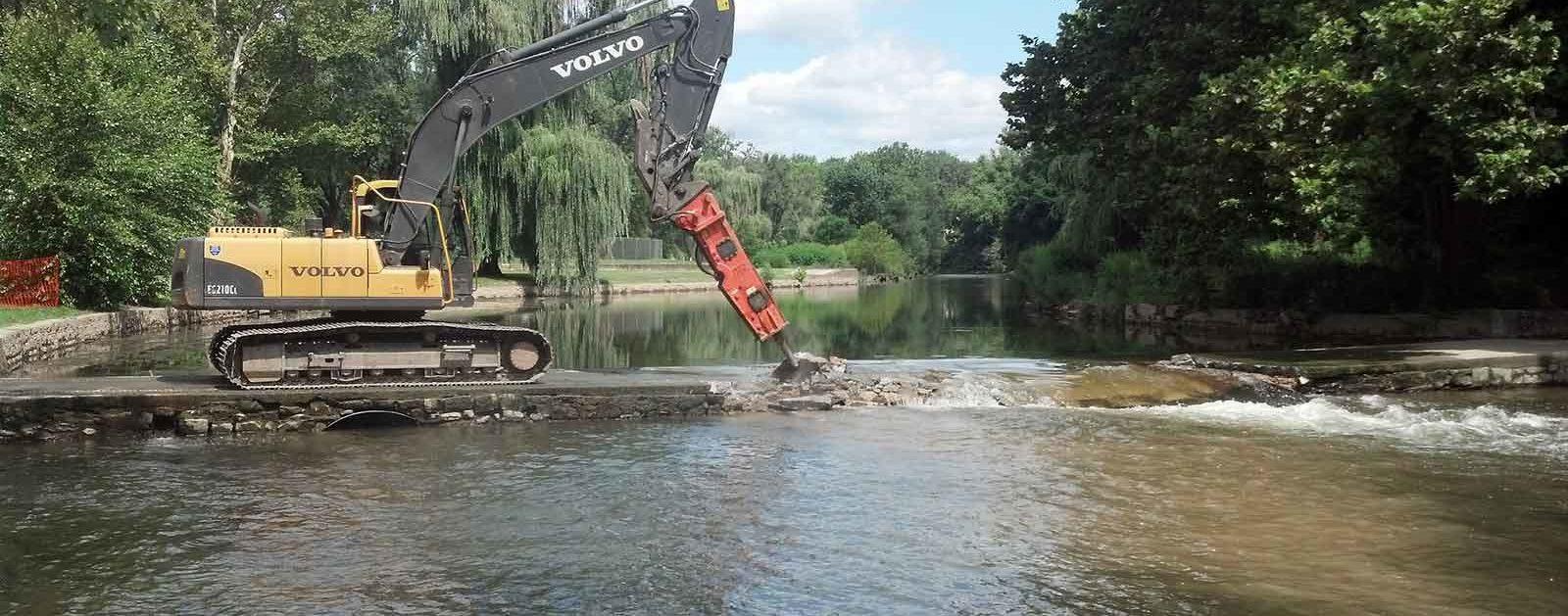 Jordan Park Dam removal on Jordan Creek in Allentown, PA | Laura Craig