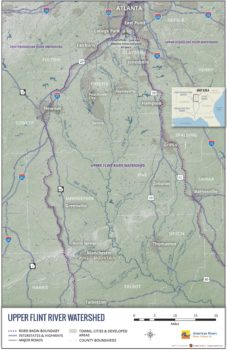 Upper Flint River Overview map