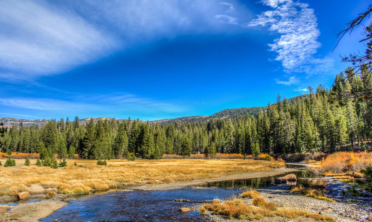 Middle Fork of the San Joaquin River meandering through Devils Postpile National Monument  David Seibold
