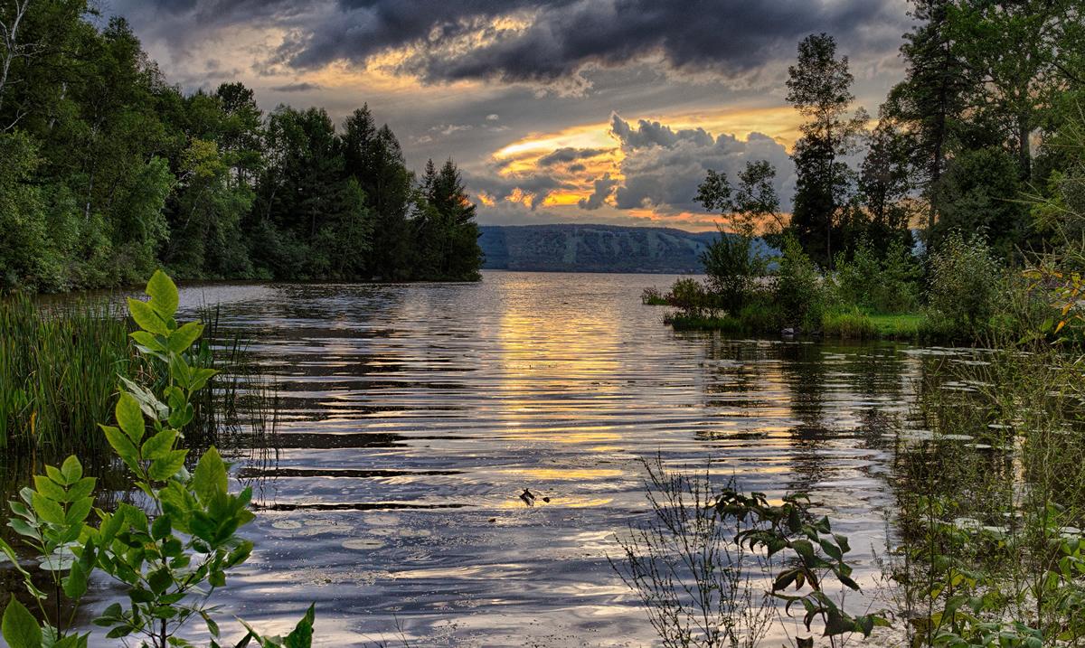 St. Louis River at dusk   Randen Pederson
