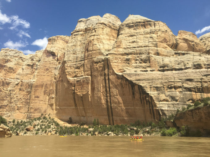 A stunning wall rises stoically above the Yampa River, northwestern Colorado   Sinjin Eberle