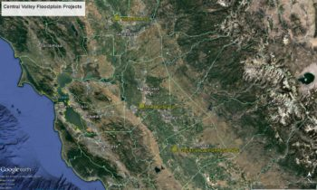 Map of California's Central Valley Floodplain project locations.