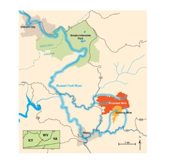 The Doe Branch Mine and watershed connections to the Russell Fork River