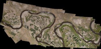 Aerial map mosaic of upper reach of restoration project showing pre-restoration baseline conditions. | Daniel Nylen