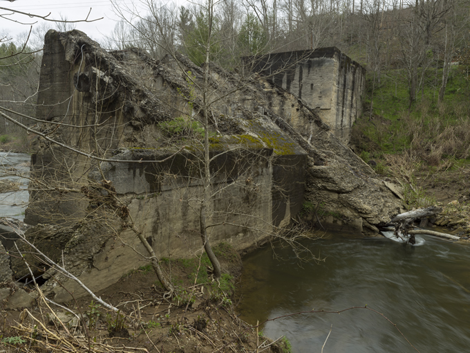 The Cane River dam pre-removal.   Jeff Rich
