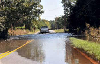 Flooded roads in Andrews, South Carolina, thanks to | North Carolina National Guard