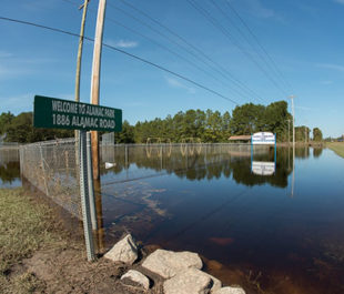 Alamac Community Park near Lumberton, NC, remains inundated with flood waters on Oct. 16, 2016 thanks to Hurricane Matthew. | U.S. Department of Agriculture