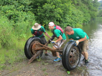 Keurig Green Mountain, Inc. employees participated in a week-long cleanup of the Winooski River with American Rivers for the 11th year!Lowell George