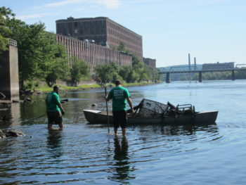 Keurig Green Mountain, Inc. employees teamed up with Clean River Project to clean up the Merrimack River in Lawrence, MA. | Lowell George