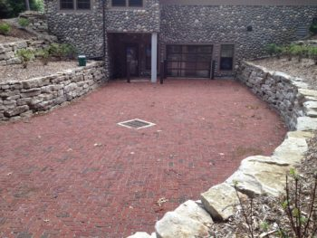 Permeable pavement driveway at Camp Miakonda in Toledo, Ohio.   Katie Rousseau