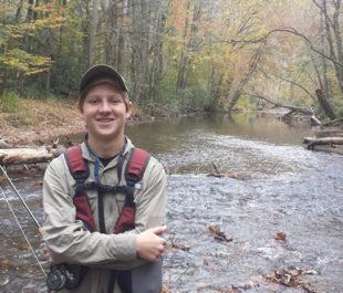 Luke on the Davidson River. | Steve White