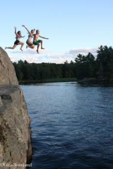 Kids enjoying the St. Lawrence River | Gina Bjornlund