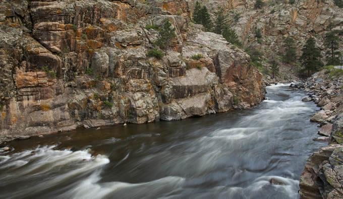 Colorado's Cache la Poudre River narrows area.   Tim Palmer, USFWS