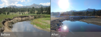Hope Valley restoration before and after. | Julie Fair and Gavin Feiger