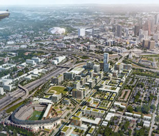 Arial view of a greener Atlanta | Turner Field Stadium Neighborhoods Livable Centers Initiative