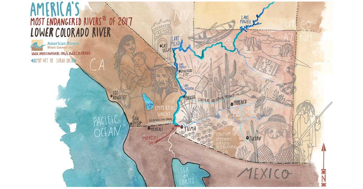Map of the Lower Colorado River | Sarah Uhl