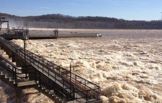 Muddy flow at Susquehanna River at Exelon's Conowingo Dam | USGS - Maryland
