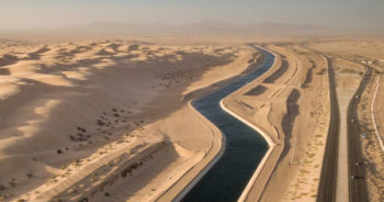 Canals of diverted Colorado River water run through the desert. | Photo: Justin Clifton