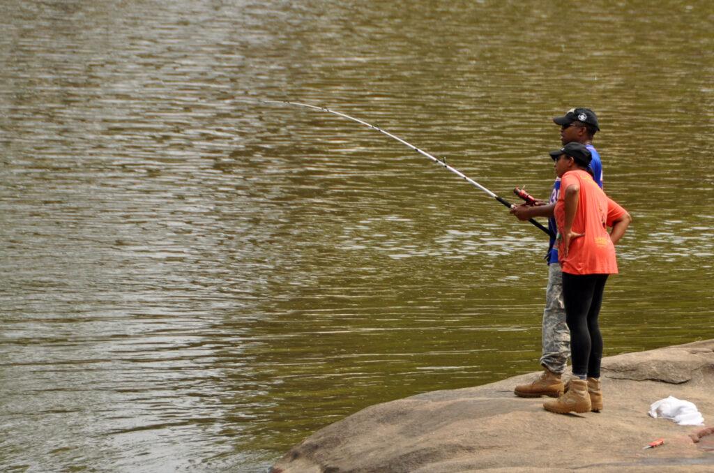Fishing on the Neuse River Greenway. | Photo: James Willamor
