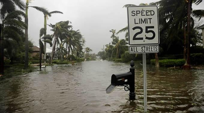Flooding in Naples, Florida following Hurricane Irma  | Photo by David Goldman/AP