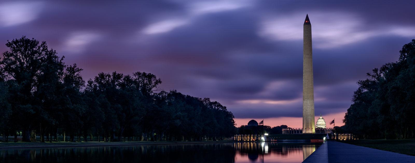 Washington Monument and Capitol Dome at Sunrise.   Photo: Jason Vines (flickr)