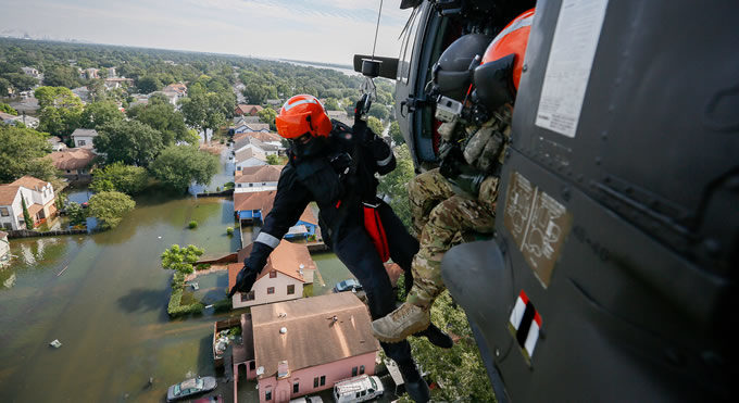 Members of the South Carolina National Guard assist in rescue missions in Port Arthur, Texas after Hurricane Harvey. | Photo: Staff Sgt. Daniel J. Martinez