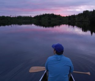 Eric Straw and friend (pictured) paddle Minnesota's Boundary Waters. | Eric Straw