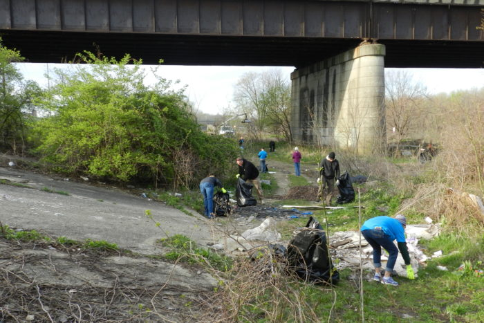 Friends of the White River's Downtown Spring Cleanup