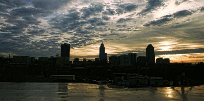 Sunrise and the Ralegih skyline. | Photo: Jeanette Runyon