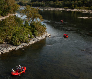 Paddlers travel downstream on the Potomac River where it meets the Shenandoah River at Harpers Ferry, W. VA. | Chesapeake Bay Program