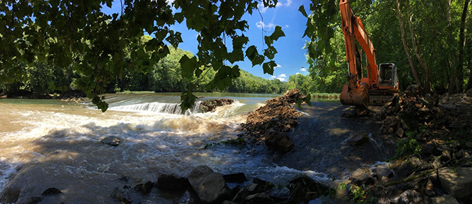 Roaring River construction   Mark Thurman, Tennessee Wildlife Resources Commission