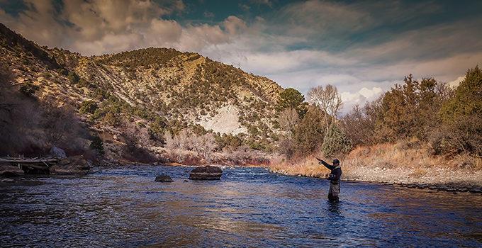 Man fishing on the Animas River. | Sinjin Eberle