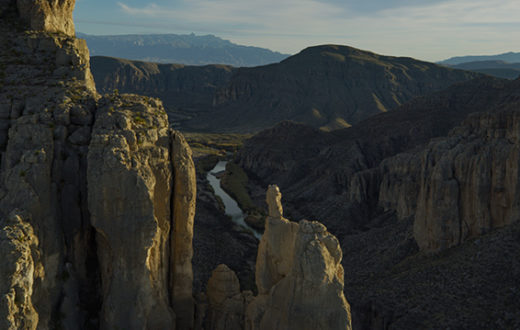 Aerial of Big Bend National Park and the Rio Grande.   Ben Masters