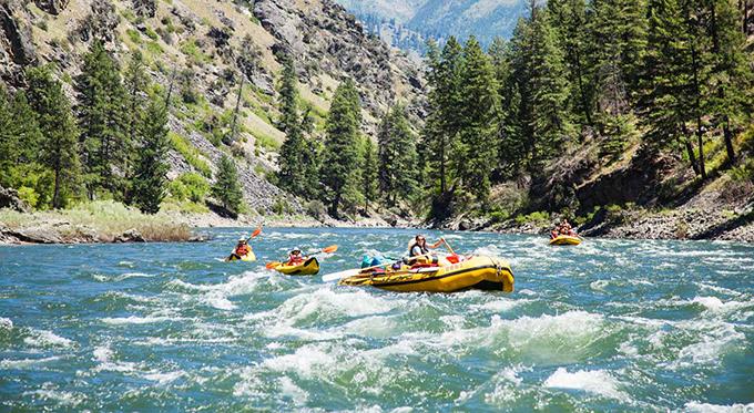 Rafting the Main Salmon, Idaho.   OARS