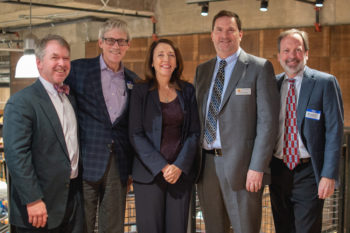 Senator Cantwell pictured with REI's Marc Berejka, American Whitewater's Tom O'Keefe, Pew Trust's John Gilroy, and American Rivers' Chris Williams.