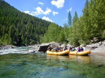 Rafters on the Middle Fork Flathead | Photo by Mike Fiebig