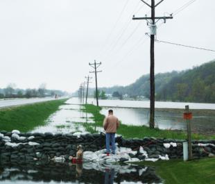 Levee break in Winfield, MO | Photo by Nancy Guyton