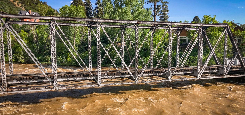 Durango to Silverton train tracks over the Animas River | Photo by Spencer Snarr