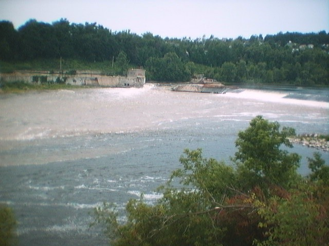 A rush of water surged through Edwards Dam as the Kennebec was freed on July 1, 1999