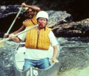 Claude Terry and Jimmy Carter running Bull Sluice rapid on Georgia's Chattooga River   Photo by Doug Woodward