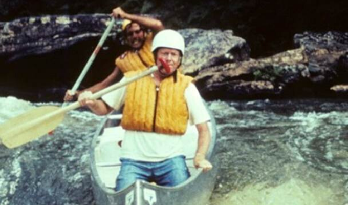 Claude Terry and Jimmy Carter running Bull Sluice rapid on Georgia's Chattooga River | Photo by Doug Woodward
