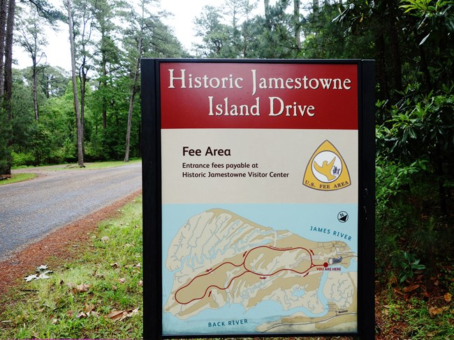 Jamestown Sign | Photo by NPS